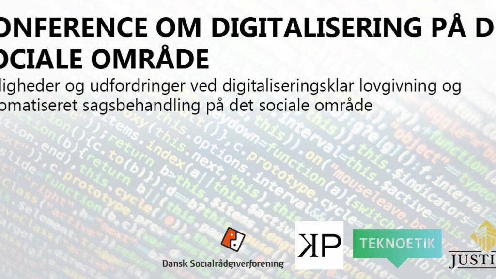 Bannergrafik konference om digitalisering på det sociale område